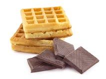 Wafeltje, chocolade royalty-vrije stock afbeelding