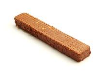 Wafeltje met chocolade stock afbeelding