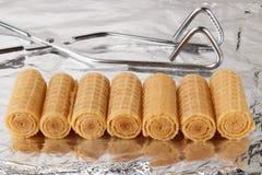 Wafeltjebroodjes stock afbeeldingen