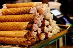Wafeltjebroodjes met condens stock afbeeldingen