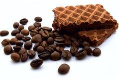 Wafeltjes en koffie Stock Afbeeldingen