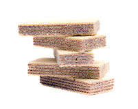 Wafer. Isolated on white background Royalty Free Stock Images
