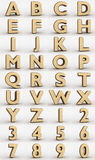 Wafer alphabet Stock Photo