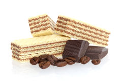 Wafer biscuit with chocolate flavor Royalty Free Stock Photography