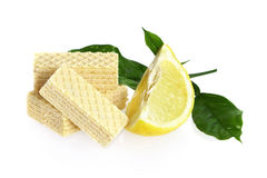 Wafer biscuit with lemon flavor Stock Photography