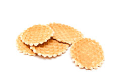 Wafer biscuits. Isolated on a white background Stock Images