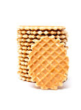 Wafer biscuits. Isolated on a white background Stock Photo