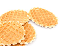 Wafer biscuits. Isolated on a white background Stock Image