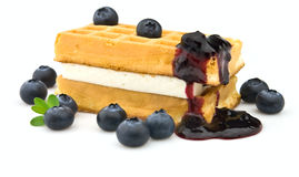 Wafer with blueberry Stock Photo
