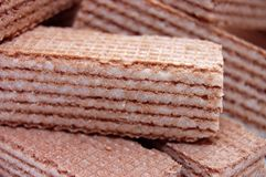 Wafer-cakes With Cacao Mass Stock Image