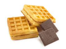 Wafer, chocolate Stock Images