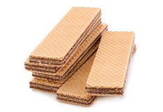 Wafer closeup on white Stock Photography