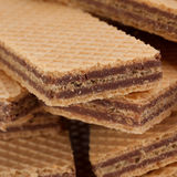Wafer closeup on white Royalty Free Stock Photo