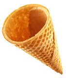 Wafer cone. On white background royalty free stock photos