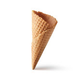 Wafer cone on white background Royalty Free Stock Image