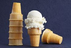 Wafer cones Stock Image