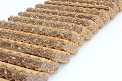 Wafer cookies with chocolate Stock Photo