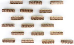 The Chocolate wafer. A wafer is a crisp, often sweet, very thin, flat, and dry biscuit, often used to decorate ice cream, and also used as a garnish on some stock photography