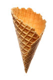 Wafer cup for ice-cream Royalty Free Stock Images