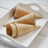 Wafer cup for ice-cream Stock Photo