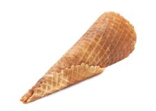 Wafer cup for ice-cream. Stock Photo