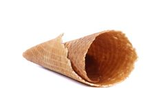 Wafer cup for ice-cream. Stock Images