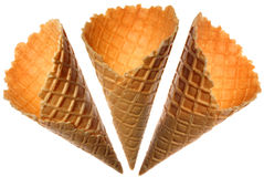 Wafer cups for ice-cream Royalty Free Stock Image
