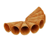 Wafer cups for ice-cream Royalty Free Stock Images