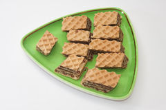 Wafer filled with chocolate cream Stock Photography