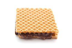 Wafer filled with chocolate and hazelnut Royalty Free Stock Photo
