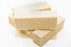 Wafer. A group of multilayered wafer with sweet filling royalty free stock image