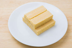 Wafer with milk Royalty Free Stock Images