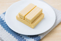 Wafer with milk Stock Image