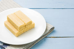 Wafer with milk Royalty Free Stock Image