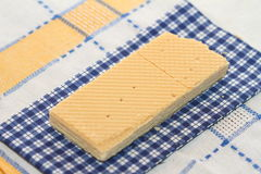 Wafer on a napkin Stock Photos