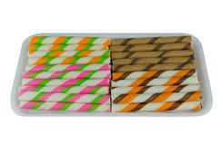 Wafer roll sticks Royalty Free Stock Photos
