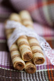 Wafer roll sticks Royalty Free Stock Photo