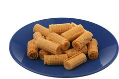 Wafer rolls Royalty Free Stock Image