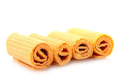 Wafer rolls Stock Photos