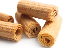 Wafer rolls Stock Photography