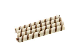 Wafer rolls with chocolate isolated Royalty Free Stock Photography