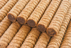 Wafer rolls closeup Stock Image