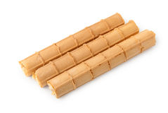 Wafer rolls with cream Royalty Free Stock Photography