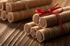 Wafer rolls Stock Images