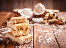 Wafer sandwich biscuits Royalty Free Stock Images