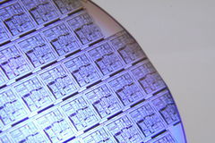 Wafer Section blue stock photo