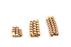 Wafer sticks isolated on white background Royalty Free Stock Photos