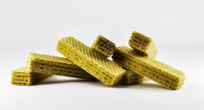 Wafer. Sweet wafer in white background stock images