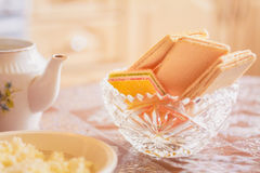 Wafer On Table Royalty Free Stock Images