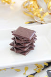 Wafer Thin Mints. This photo shows some wafer thin mints on a plate Royalty Free Stock Images